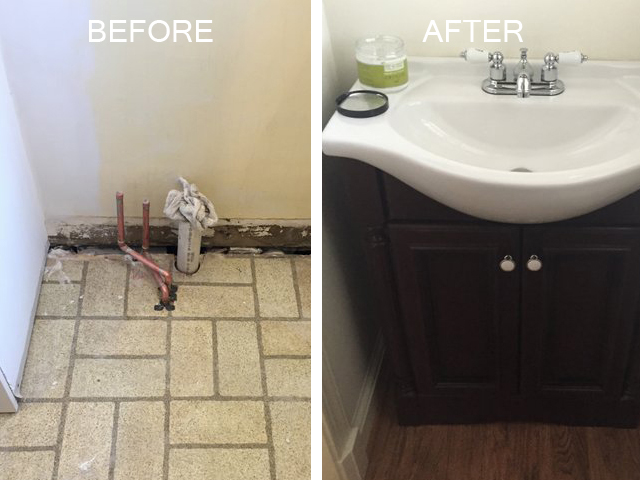 Maryland Powder Room Remodeling Chevy Chase Renovation Contractor Adorable Bathroom Remodeling Maryland Painting