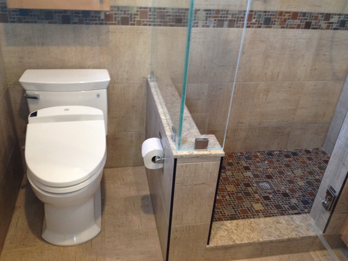 small bathroom project 3 in bethesda md